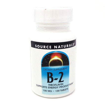 Source Naturals Vitamin B2 100mg - 100 Tablets