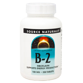 Source Naturals Vitamin B 2 100 mg 250 tabs