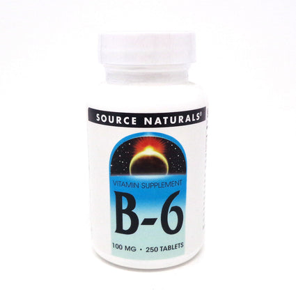Source Naturals Vitamin B 6 100 mg 250 tabs