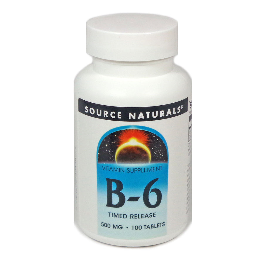Source Naturals Vitamin B-6 500 mg - 100 Timed Release Tablet