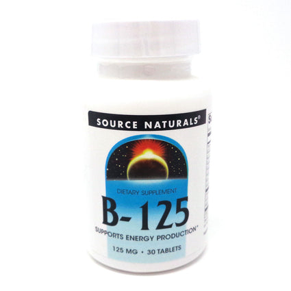 Source Naturals B 125 Complex - 30 Tablets