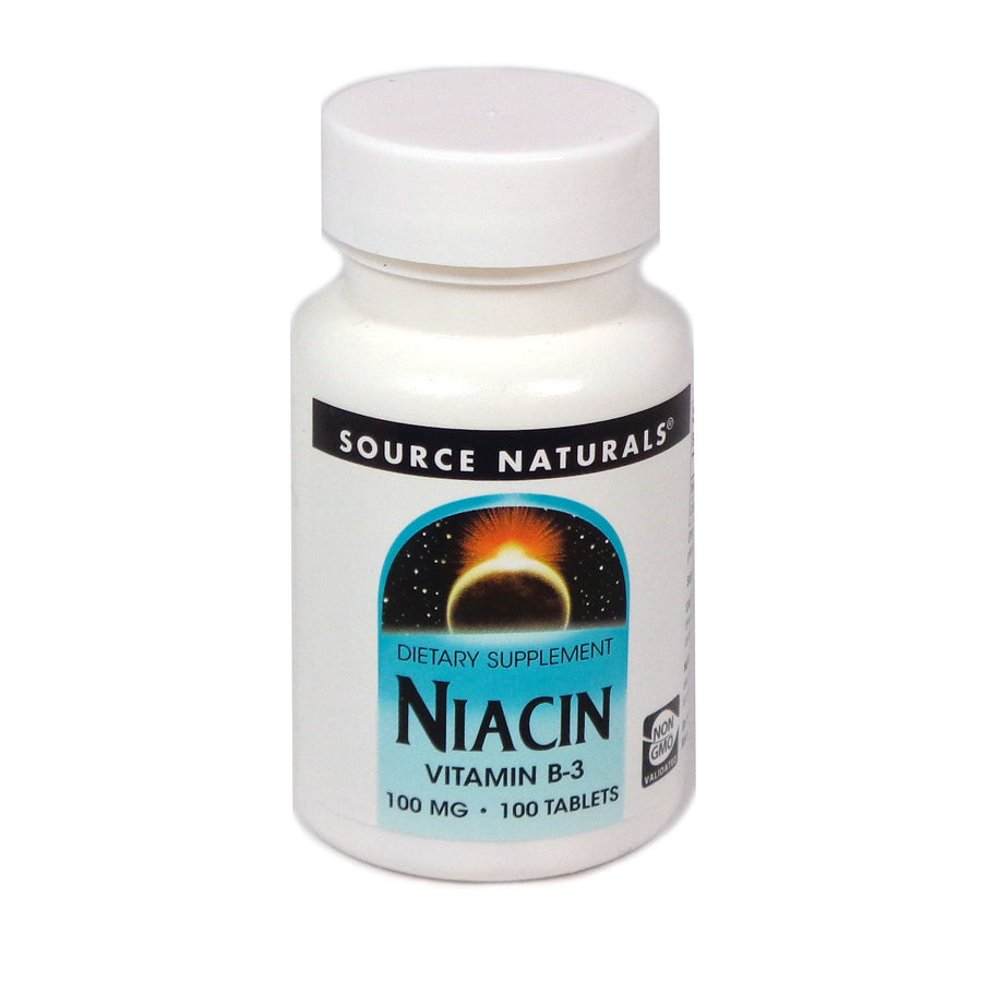 Source Naturals Niacin 100 mg - 100 Tablet