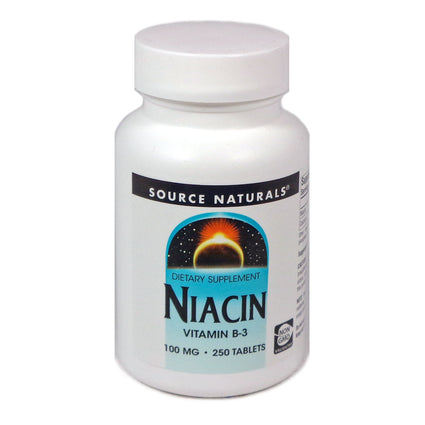 Source Naturals Niacin 100 mg - 250 Tablet
