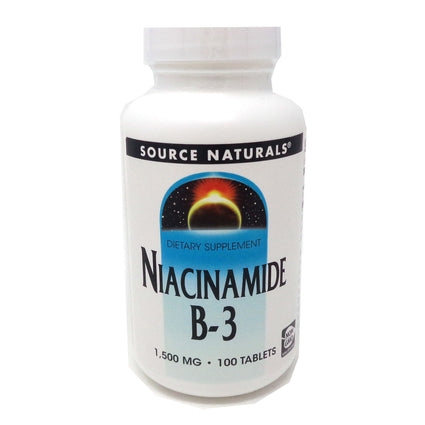 Niacinamide 1500 mg B3 By Source Naturals - 100 Tablets