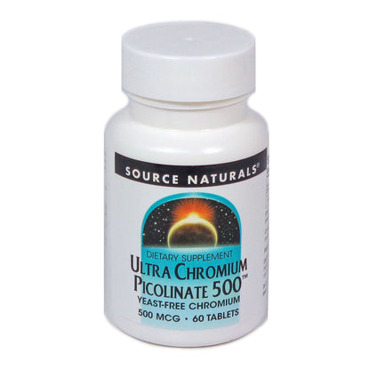 Source Naturals Ultra Chromium Picolinate 500 500 mcg - 60 Tablet
