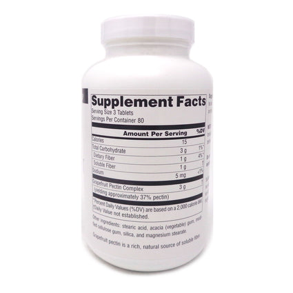 Source Naturals Grapefruit Pectin 1000 mg - 240 Tablet