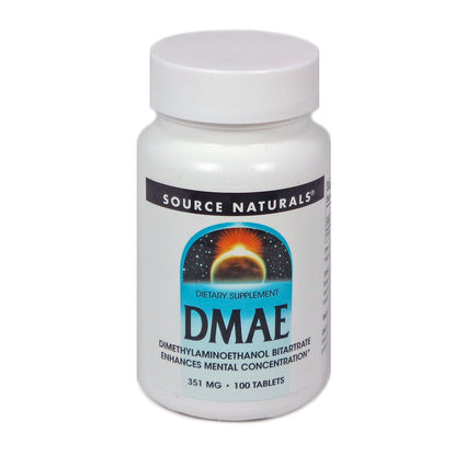 Source Naturals DMAE 351 mg - 100 Tablet