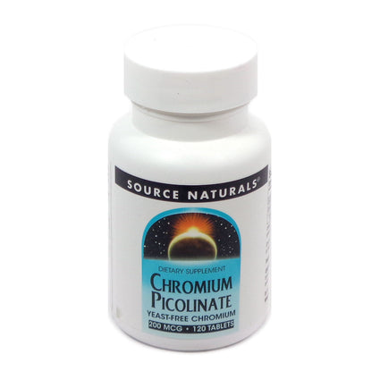 Source Naturals Chromium Picolinate 200 mcg - 120 Tablet
