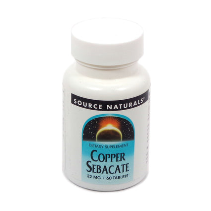 Source Naturals Copper Sebacate 22 mg - 60 Tablet