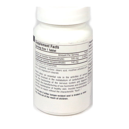 Source Naturals No-Flush Niacin 500 mg - 60 Tablet
