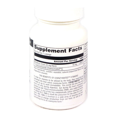 Source Naturals Coenzymated B-2 25 mg Peppermint - 30 Lozenge