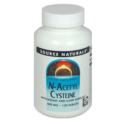 Source Naturals N-Acetyl Cysteine 600 mg - 120 Tablet