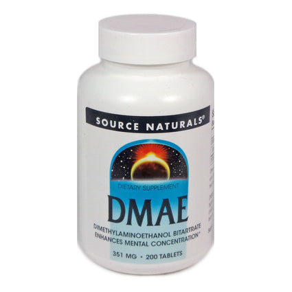 DMAE 351 mg By Source Naturals - 200 Tablets