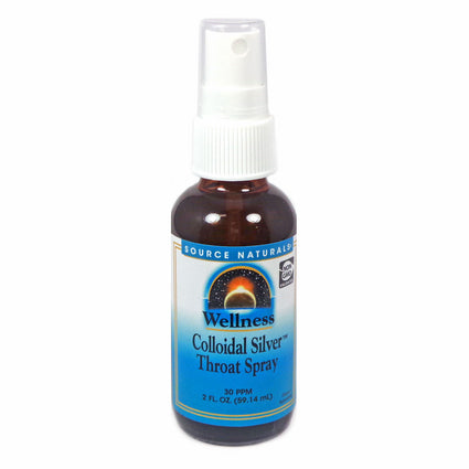 Wellness Colloidal Silver Throat Spray By Source Naturals - 2 Ounces