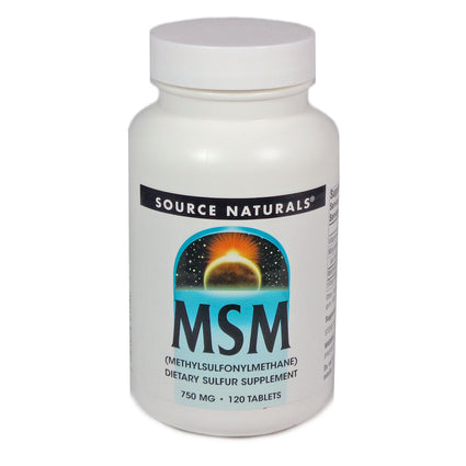 MSM 750 mg by Source Naturals 120 Tablets
