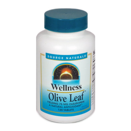 Source Naturals Wellness Olive Leaf - 120 Tablet