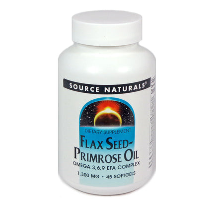 Source Naturals Flax Seed-Primrose Oil 1300 mg - 45 Softgel