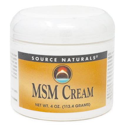 MSM Cream by Source Naturals 4 Ounces