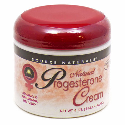 Natural Progesterone Cream By Source Naturals - 4 Ounces