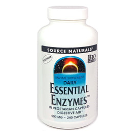 Essential Enzymes 500 mg by Source Naturals 240 Vegetarian Capsules