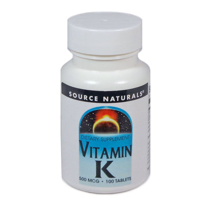 Source Naturals Vitamin K 500 mcg - 100 Tablet
