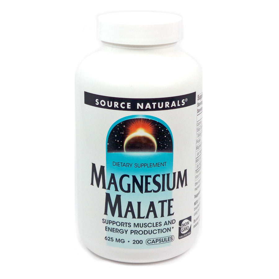 Source Naturals Magnesium Malate - 200 Tablets