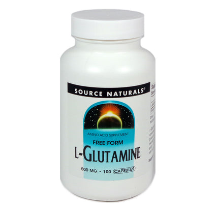 Source Naturals L-Glutamine 500 mg - 100 Capsule