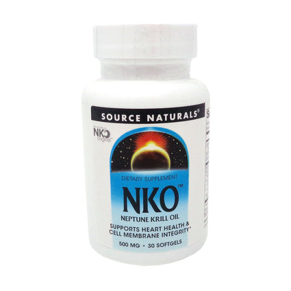 Neptune Krill Oil NKO By Source Naturals - 30 Softgels