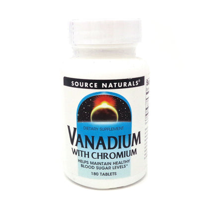 Source Naturals Vanadium with Chromium - 180 Tablet