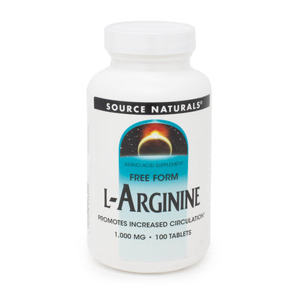 L-Arginine 1000mg By Source Naturals - 100 Tablet