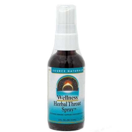 Wellness Herbal Throat Spray By Source Naturals - 2 Liquid