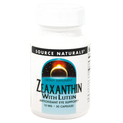 Source Naturals Zeaxanthin with Lutein 10mg By  - 30 Capsule