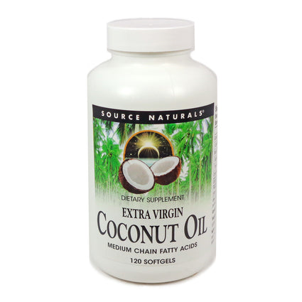 Source Naturals Coconut Oil Extra Virgin 1000 mg - 120 Softgel