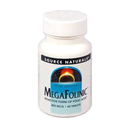 Source Naturals MegaFolinic 800 mcg - 60 Tablet
