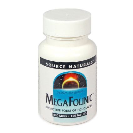 Source Naturals MegaFolinic 800 mcg - 120 Tablet