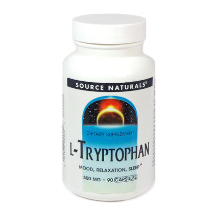 Source Naturals L-Tryptophan 500 mg - 90 Capsule