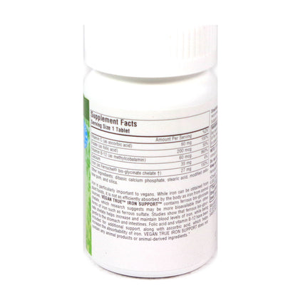 Source Naturals Vegan True Iron Support - 180 Tablet