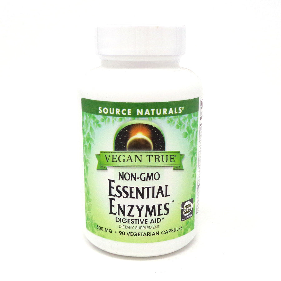 Vegan True Non-GMO Essential Enzymes By Source Naturals - 90 Capvegi