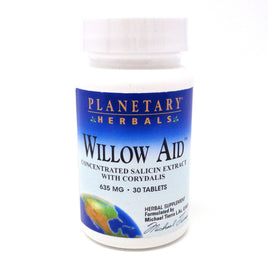 Planetary Herbals Willow Aid - 30 Tablets