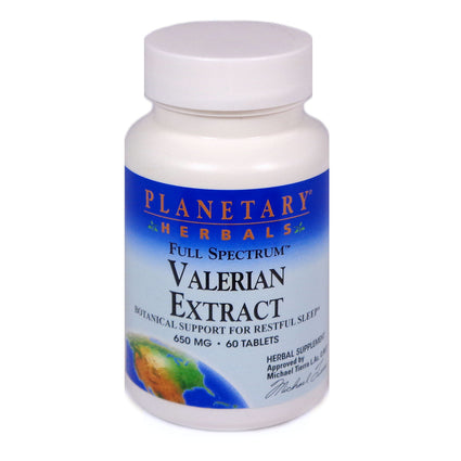 Planetary Herbals Valerian Extract Full Spectrum 650 mg  - 60 Tablet