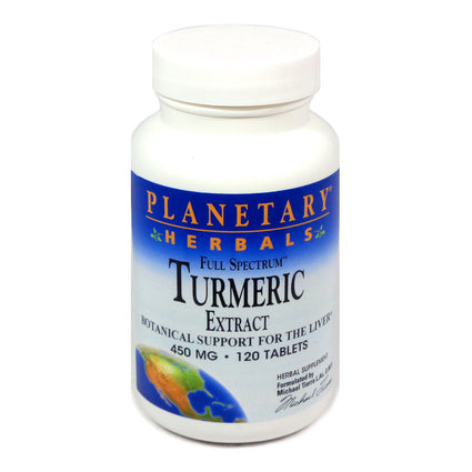 Full Spectrum Turmeric Extract By Planetary Formulas - 120 Tablets