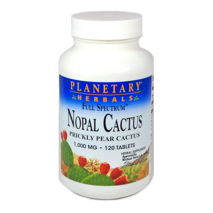 Nopal Cactus 1000 mg By Planetary Herbals - 120 Tablets
