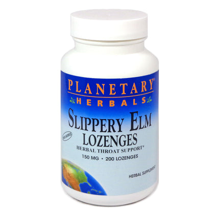 Slippery Elm Lozenges Unflavored By Planetary Herbals - 200 Lozenge