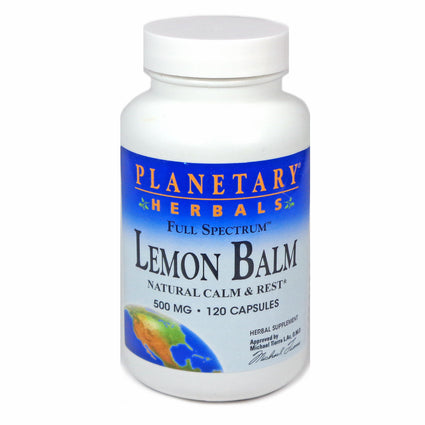 Lemon Balm Full Spectrum 500mg By Planetary Herbals - 120 Capsule