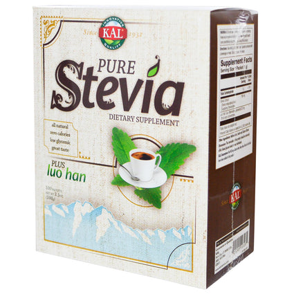 Pure Stevia Plus Luo Han by Kal - 100 Packets