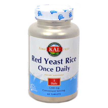 Red Yeast Rice Once Daily 1200 mg By KAL - 60  Tablets