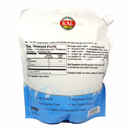 Xylitol Unflavored Fine Powder by KAL - 2 Pounds