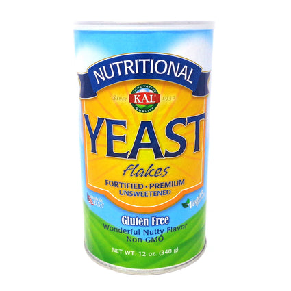Nutritional Yeast Flakes By KAL - 12 oz Powder