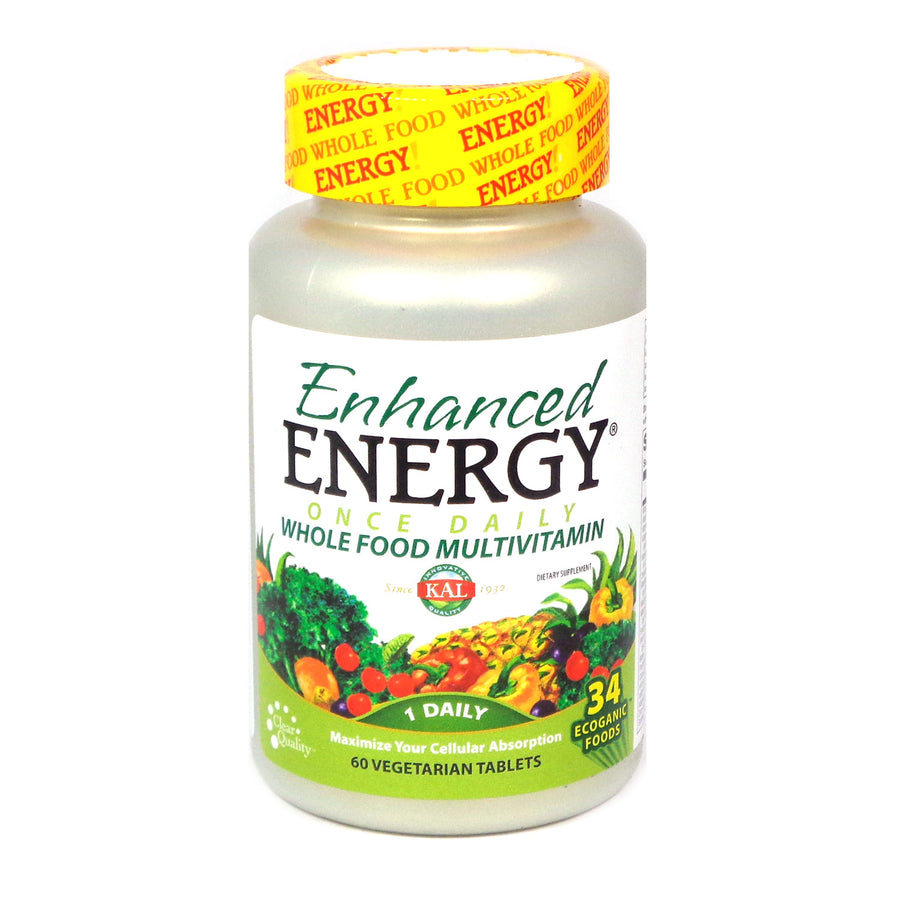 Enhanced Energy Once Daily By Kal - 60 Capsules
