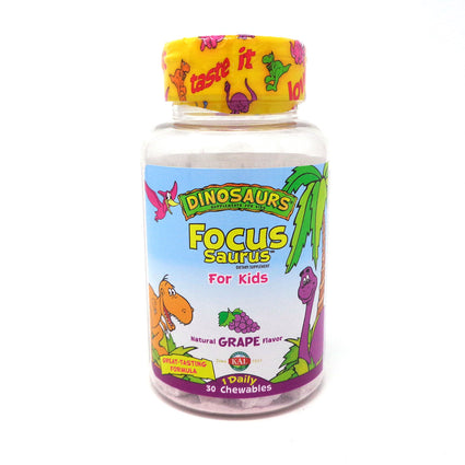 Kal Focus-Saurus Chewable Grape - 30ct